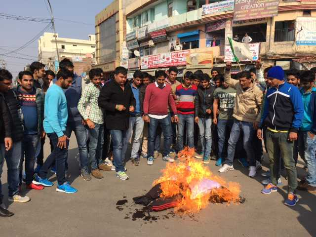 Protests over screening of 'MSG' in Haryana