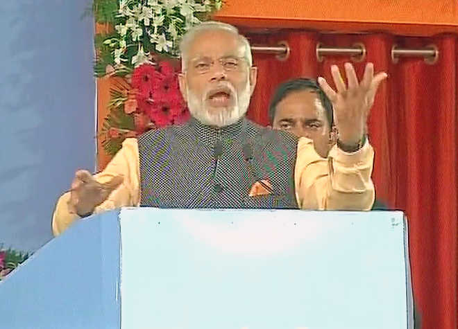 Indian Army doesn't speak but displays its valour: Modi