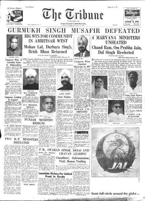 Punjab 1967 election results