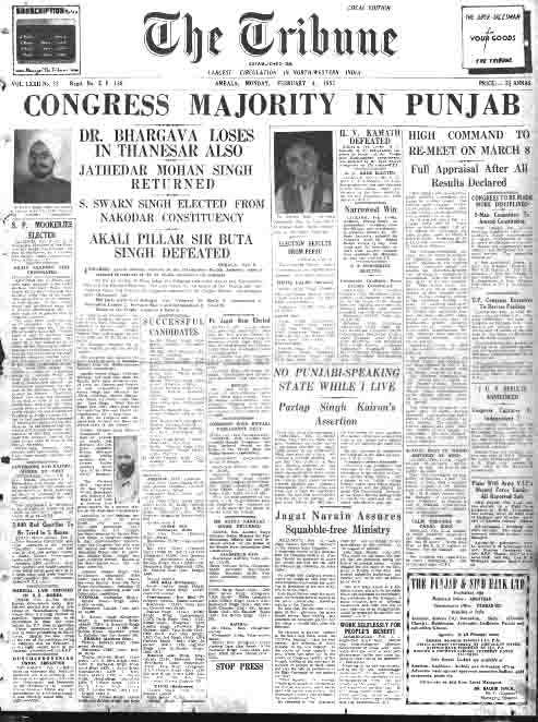 Punjab 1951-52 election results