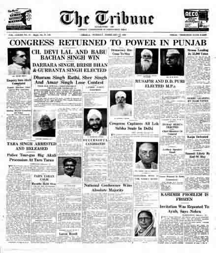 Punjab 1962 election results