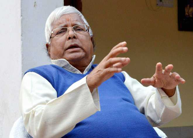Lalu reminds Modi of his Rs 15 lakh promise