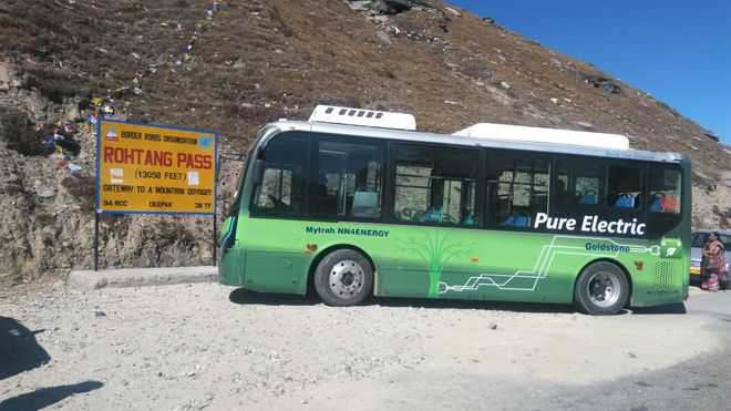 Electric buses on Rohtang route likely from next year