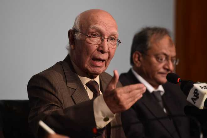 Will not give tit-for-tat response to Indian aggression: Sartaj Aziz