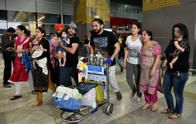 Image result for family at delhi airport
