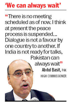 Peace process is suspended:  Pak