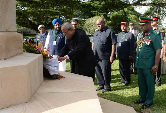 Mukherjee pays respect to 'unknown' Indian soldiers of WW II