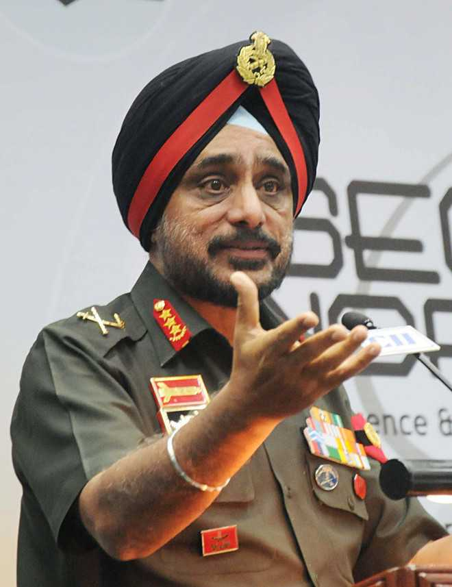 Lt Gen KJ Singh exhorts students to join armed forces