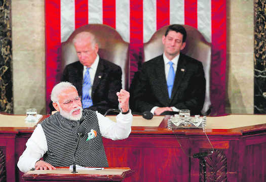 Terrorism 'incubated' in India's vicinity, PM tells US Congress