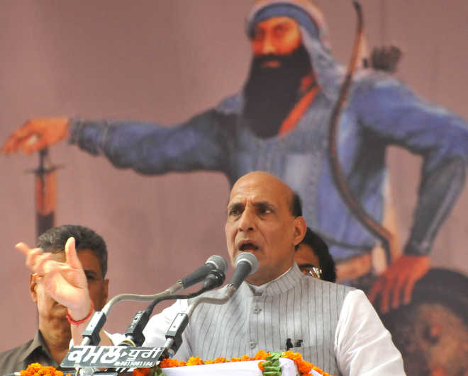 Pampore attack: Rajnath points fingers at Pak