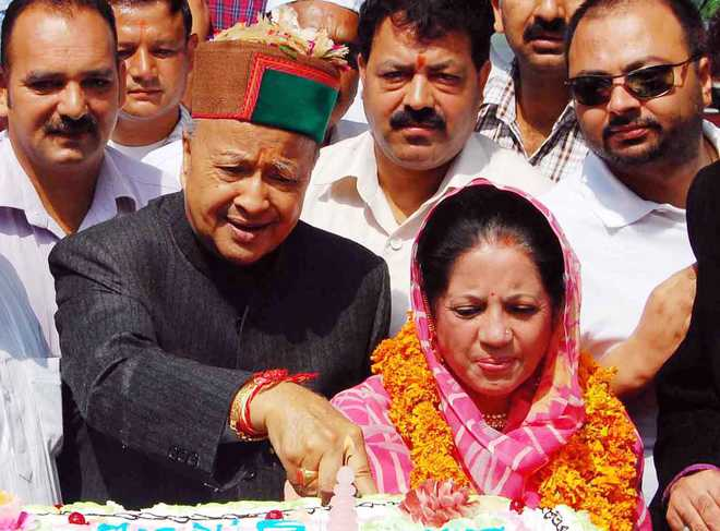 Image result for virbhadra and his wife