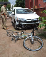 Cyclist crushed to death under doc's car