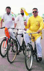 MLA pedals 110 km to reach Assembly