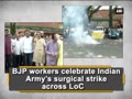 BJP workers celebrate Indian Army's surgical strike