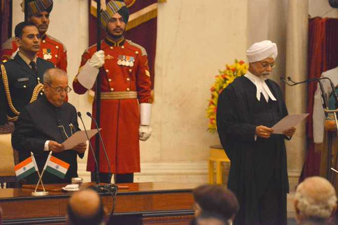 Justice Khehar sworn in as 44th Chief Justice of India