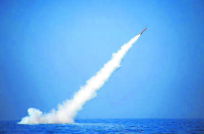 Pak Fires Sub Launched Nuclear Capable Missile