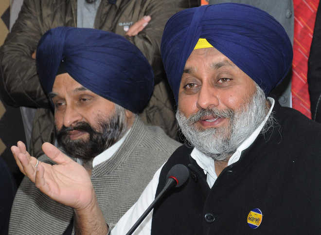 AAP resorting to violence:Sukhbir