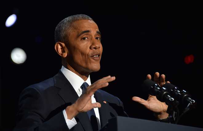 In final address, Obama urges Americans to stand up for values