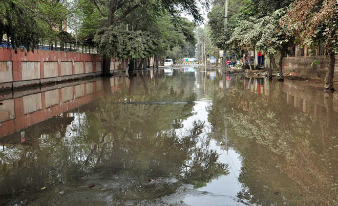 Roads remain submerged in dirty water for second day