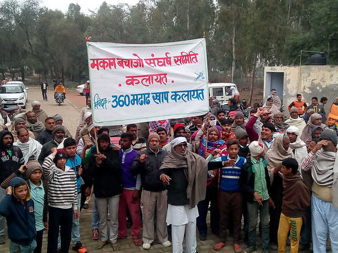 Demolition drive victims hold protest in Kalayat