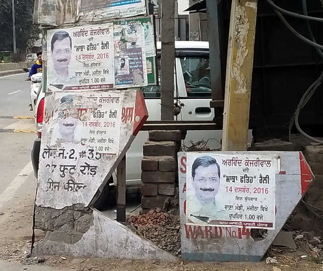 Violation of election code: Posters still on display in city