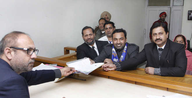 BSP candidate files his nomination
