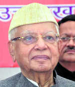 ND Tiwari joins BJP for son's sake, Cong jolted