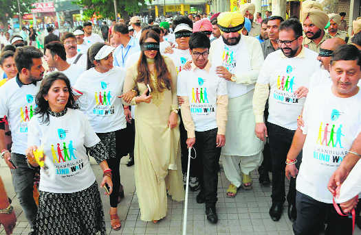 Blind walk shows the way