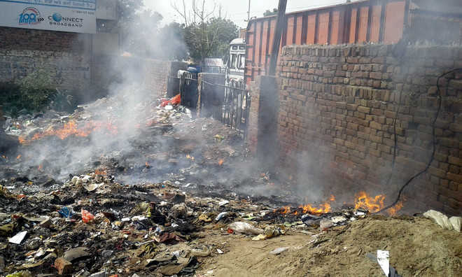 Power supply disrupted after fire in waste dump