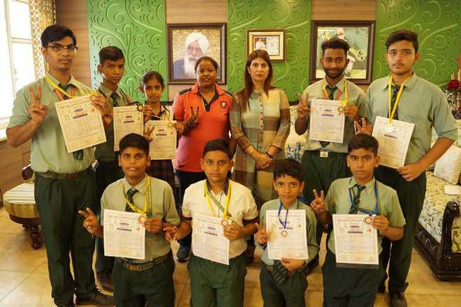 Green Land students win 9 medals