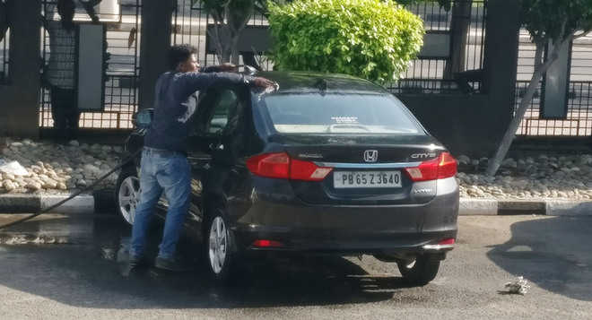 Power play! Peon washes Mohali officer's private car