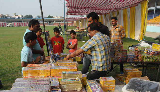 Fire safety measures given a miss at crackers market in city