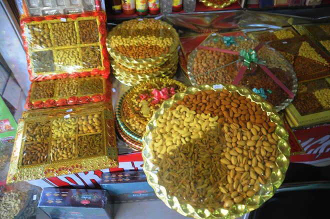 Dry fruit, bakery products in demand