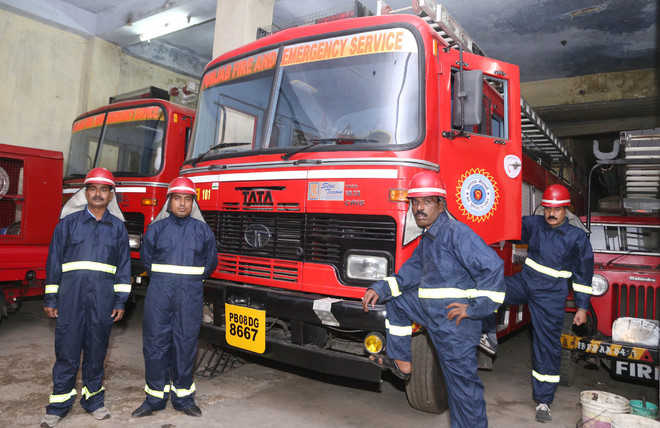 Firemen ready for any eventuality