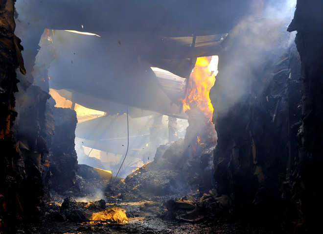 Fire breaks out at cardboard factory