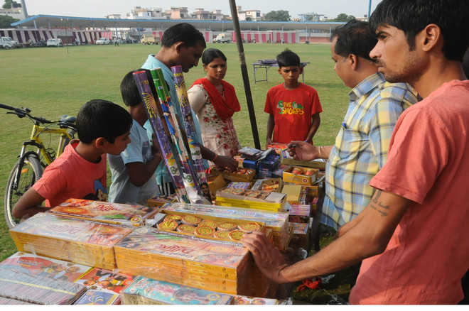 Firecrackers sale dips this year