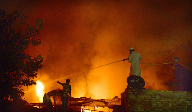 Over 15 fire incidents reported in city on Diwali night