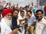 Congress supporters celebrate Jakhar's victory