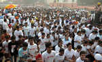 Police, BSF hold half marathons in city