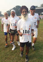 Octogenarian turns showstopper in half marathon