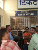 Railway reservation window opens late, P'kula passengers a harried lot