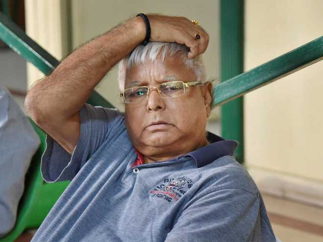 Lalu elected RJD president unopposed for 10th time