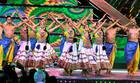 Artistes perform a folk dance on the inaugural day of 48th edition of the International Film Festival of India in Panaji on November 20, 2017. PTI photo