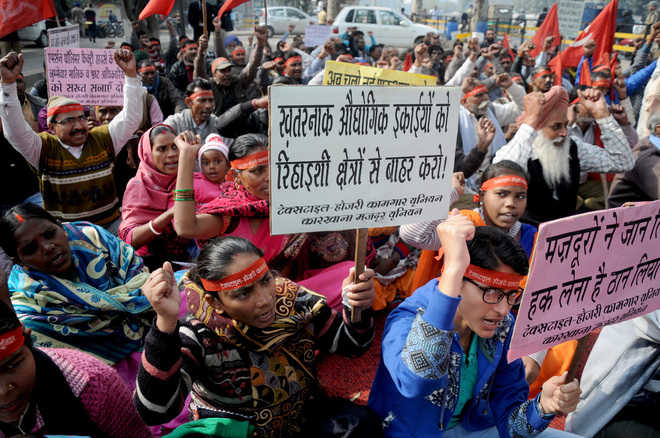 Workers stage protest, want labour laws enforced