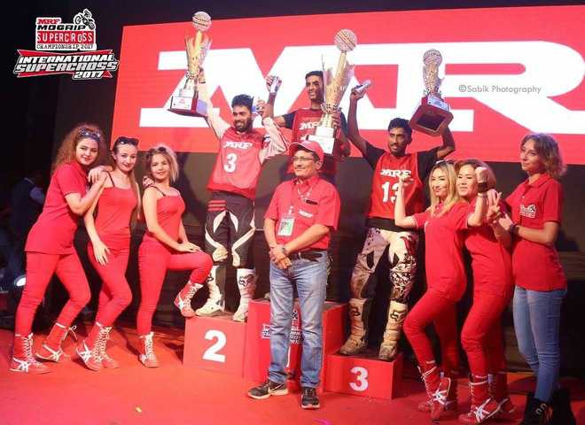 Prithvi wins bike racing event; fourth podium finish this year