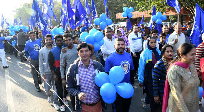 Students run for Babasaheb