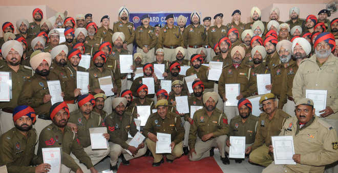 Class I certificate for 102 police officers