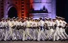 Navy sailors take part in a rehearsal for forthcoming Navy Day celebrations in front of The Gateway of India in Mumbai on December 2, 2017. The Indian Navy will celebrate Navy Day on December 4, as a tribute to the maritime operations of the Indian Navy during the 1971 Indo-Pakistan war. AFP photo