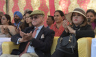 Dignitaries watch the 'Equitation tattoo and horse show' at the Military Literature Festival at Secretariat Ground, Sector 3 in Chandigarh, on Wednesday. Tribune photo: Ravi Kumar