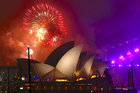 Fireworks explode near the Sydney Opera House as part of New Year celebrations on Sydney Harbour, Australia, December 31. Reuters